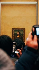 The Mona Lisa at the Louvre
