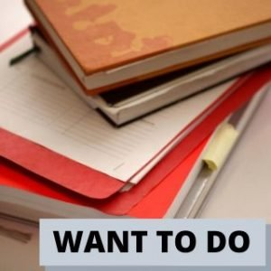 Want to do list of priorities
