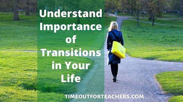 Understand the importance of transitions in your life, woman walking down a road