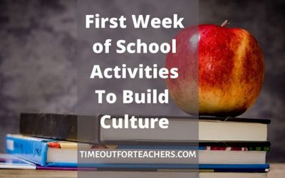 First Week of School Activities to Build Culture