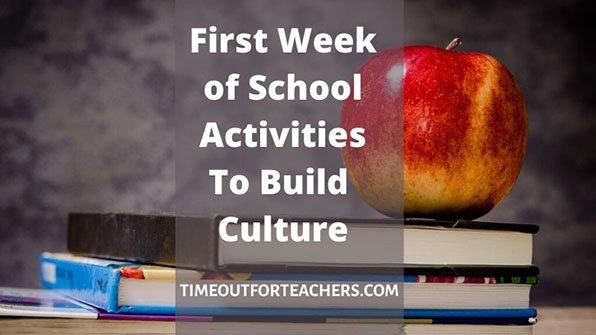 First week of school activities to build culture