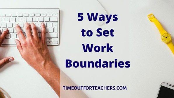 5 ways to set work boundaries